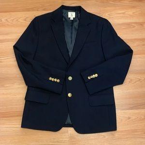 Lands End Navy Blue Boy's Husky Uniform Blazer 12H